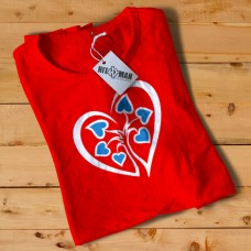 HR1002 Heart Logo Red T-Shirt