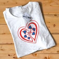 HR1002 Heart Logo White T-Shirt