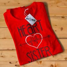HR1004 Heart Sister Red T-Shirt