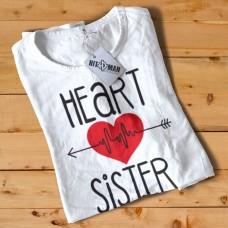 HR1004 Heart Sister White T-Shirt